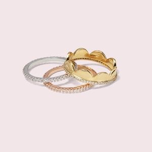 Kate Spade Scallop Rings Set 💍 7 💍 ΝWT